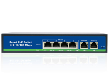 Switch 4 porty PoE + 2 porty Uplink 100Mb/s