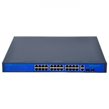 Switch 24 porty PoE + 2 porty Uplink 1000Mb/s + 2x SFP